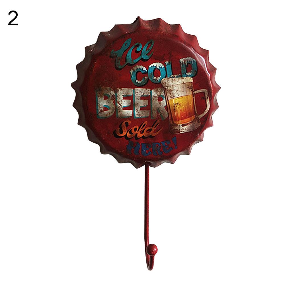 Beer-Bottle-Cap-Sign-Decor-Hook-Metal-Wall-Decoration-Vintage-Hanging-Hooks thumbnail 13