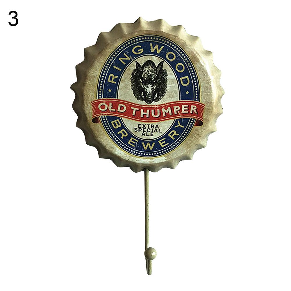 Beer-Bottle-Cap-Sign-Decor-Hook-Metal-Wall-Decoration-Vintage-Hanging-Hooks thumbnail 14